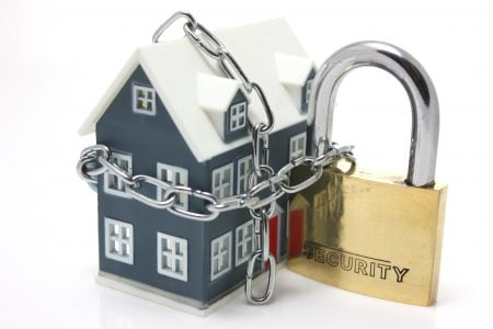 Home surrounded chains - secure home